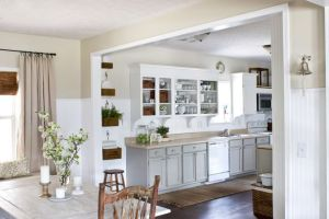 Perhaps going with the lighter gray lower cabinets