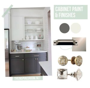 Loving dark lower cabinets and white upper cabinets.