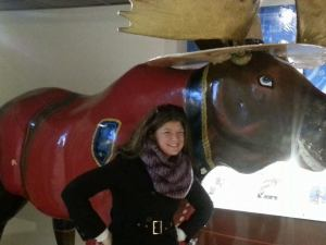 With a Mountie Moose
