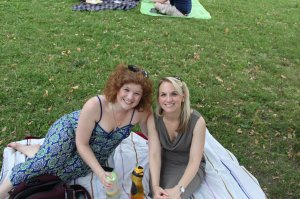 Meg and I at Food Truck Friday back when we were roommates....