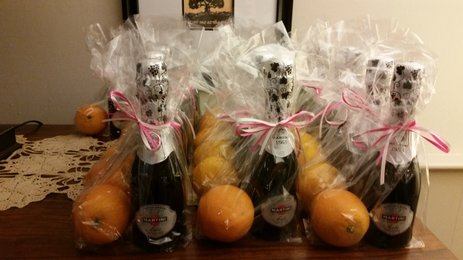 Favors!  Take home Mimosas!