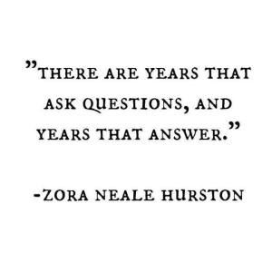 Maybe this is just a year that asks questions.