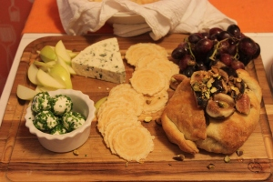 The delicious cheese tray - including a baked fig brie.  As one does.