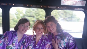 Robes on a party bus!