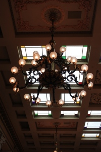 One of the great light fixtures from the building.