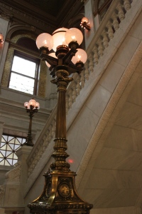 My favorite light fixture.  The hall these were in was magnificent and these light posts were perfect.