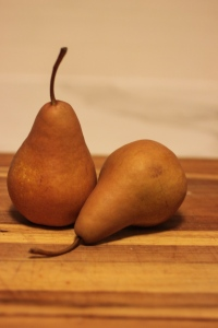 Bosc pears are so pretty.