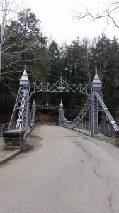 Nicknamed the Cinderella Bridge because of the spires and scrolls.