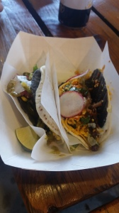 These were from Condado.  There were 19 different components to these two tacos.  I watched them make them.  Ambitious, but perhaps not the right venue for such involved tacos.  Their line was hella long.