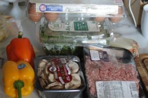 Egg bake prep.